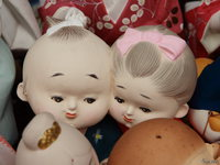 view--kada - ceramic couple dolls