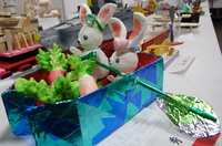 rabbit boat with loads of carrots