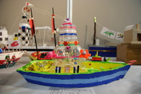 grade 3 - boat made of ice cream cups