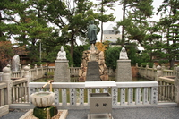 statues of monks and buddha and etc