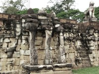 elephant terrace Siem reap, South East Asia, Cambodia, Asia