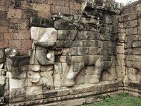 elephant sculpture Siem reap, South East Asia, Cambodia, Asia