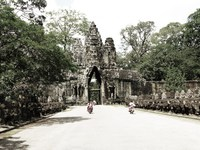 view--north gate of angkor thom Siem Reap, South East Asia, Cambodia, Asia