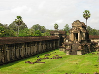 temple walls Siem reap, South East Asia, Cambodia, Asia