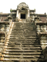 view--angkor steps Siem reap, South East Asia, Cambodia, Asia