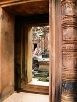 doorway of banteay srei Siem Reap, South East Asia, Cambodia, Asia