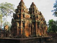 towers of banteay srei Siem Reap, South East Asia, Cambodia, Asia