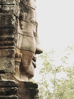 side face of jayavarman Siem reap, South East Asia, Cambodia, Asia