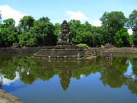 view--prasat neak pean Siem Reap, South East Asia, Cambodia, Asia