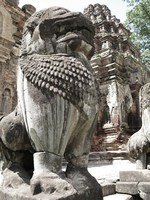 stone lion of preah ko Phnom Penh, Siem Reap, South East Asia, Cambodia, Asia