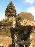 elephant of bakong temple Phnom Penh, Siem Reap, South East Asia, Cambodia, Asia