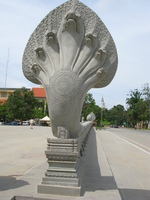 white snake statue near canadia garden Phnom Penh, South East Asia, Vietnam, Asia