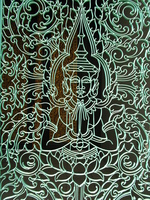 buddha pattern on gate Phnom Penh, South East Asia, Vietnam, Asia