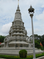 king suramarit and queen kossomaks stupa Phnom Penh, South East Asia, Vietnam, Asia