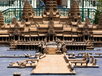 model of angkor vat Phnom Penh, South East Asia, Vietnam, Asia