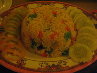 food--veggie fried rice Siem reap, South East Asia, Cambodia, Asia