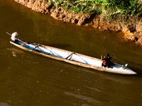 b52 canoe Vientiane, Hin Boun Village, South East Asia, Laos, Asia