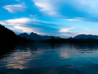 blue danube of laos Vientiane, Hin Boun Village, South East Asia, Laos, Asia