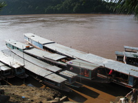 slow boats of laos Pakbeng, Luang Prabang, South East Asia, Laos, Asia