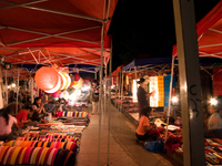 luang prabang night market Pakbeng, Luang Prabang, South East Asia, Laos, Asia