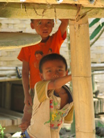laos boys Pakbeng, South East Asia, Laos, Asia