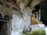 happy buddha outside pak ou cave Pakbeng, Luang Prabang, South East Asia, Laos, Asia