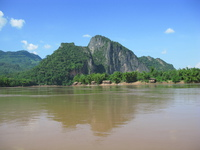 mekong river Pakbeng, Luang Prabang, South East Asia, Laos, Asia