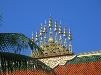 typical laos temple roof Luang Prabang, Vientiane, South East Asia, Laos, Asia