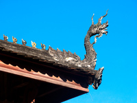 roof dragon Luang Prabang, Vientiane, South East Asia, Laos, Asia