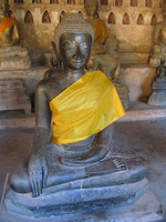 enlightened buddha statue Luang Prabang, Vientiane, South East Asia, Laos, Asia