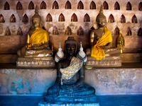 three lives of buddhas Luang Prabang, Vientiane, South East Asia, Laos, Asia