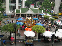 erawan shrine from flyover Bangkok, South East Asia, Thailand, Asia