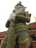 dragon lord statue Bangkok, South East Asia, Thailand, Asia
