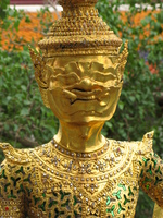 golden chedis Bangkok, South East Asia, Thailand, Asia