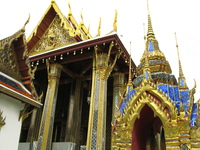 gold temple Bangkok, South East Asia, Thailand, Asia
