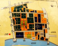 map of siriraj medical complex Bangkok, Kanachanburi, South East Asia, Thailand, Asia