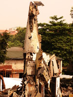 wreckage artwork Hanoi, South East Asia, Vietnam, Asia