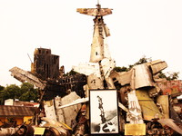 mass grave of american plane wreckage Hanoi, South East Asia, Vietnam, Asia