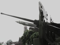 anti-aircraft gun 57mm Hanoi, South East Asia, Vietnam, Asia