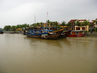 egyptian boats Hue, Hoi An, South East Asia, Vietnam, Asia