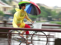 view--rainbow girl Hue, Hoi An, South East Asia, Vietnam, Asia