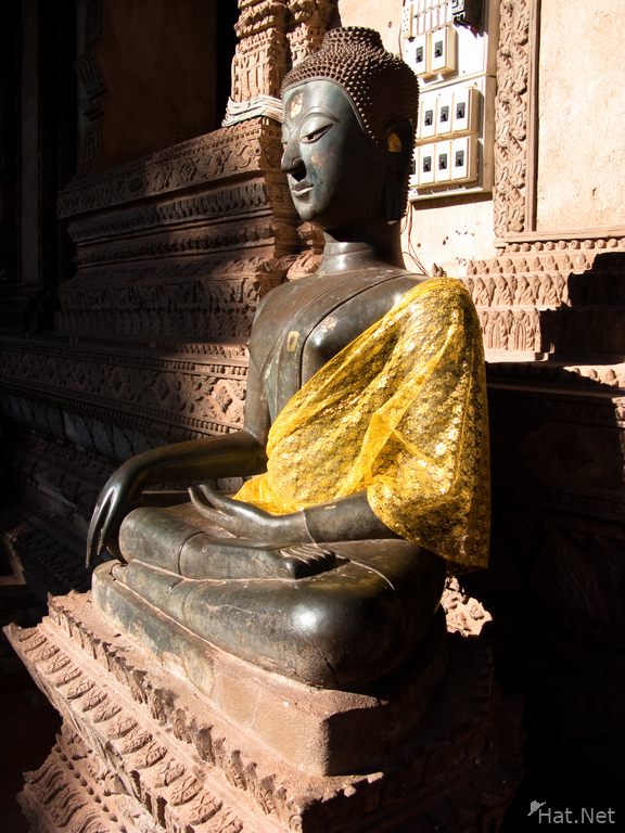 buddha in yellow silk