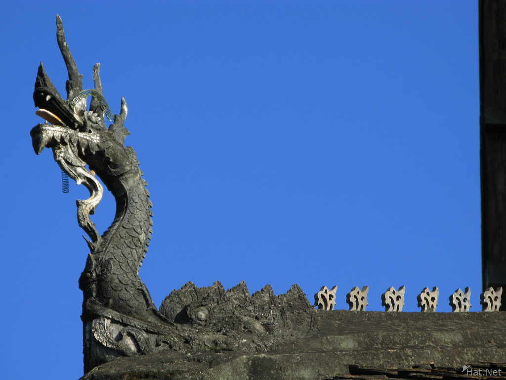 laos dragon roof