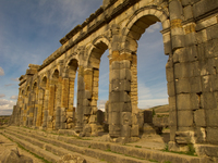 view--volubilis Meknes, Moulay Idriss, Imperial City, Morocco, Africa