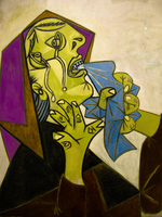 head of crying woman with handkerchief iii by pablo picasso Granada, Madrid, Andalucia, Capital, Spain, Europe