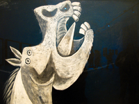 view--study for horse head by pablo picasso Granada, Madrid, Andalucia, Capital, Spain, Europe