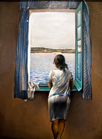 view--girl at the window by salvador dali Granada, Madrid, Andalucia, Capital, Spain, Europe