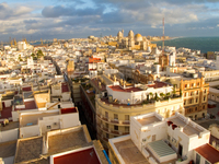 view--cadiz sunset Cadiz, Andalucia, Spain, Europe