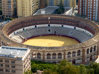 view--bull fighting ring Malaga, Andalucia, Spain, Europe