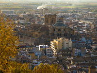 view--cathedral from torre de las armas Granada, Andalucia, Spain, Europe